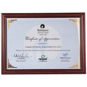Reliance Ind Ltd Award